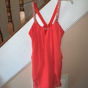 Orange Embellished Dress Hailey Logan Juniors